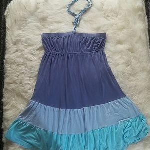 BODY CENTRAL- Strapless Flouncy Beach Dress